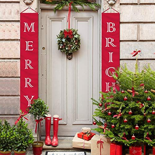 Shop Online Mordun Christmas Banners Indoor Outdoor Explore Our Chr Christmas Decorations Clearance Outdoor Christmas Decorations Office Christmas Decorations