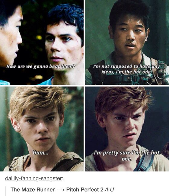 Sorry Minho,but Newt is hotter than you.And Thomas......