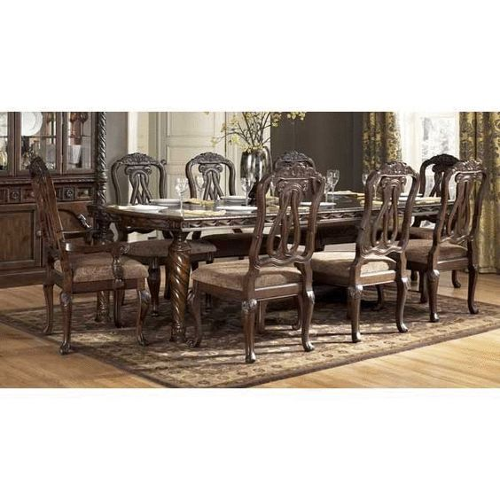 Ashley Furniture No Interest: North Shore 7 Piece Dining Set D553-7PC $1,443 +$129/chair