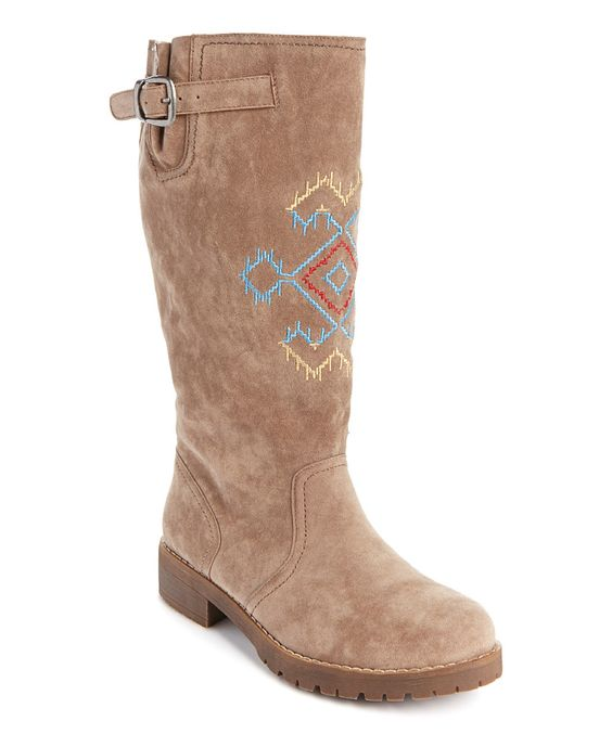 Another great find on #zulily! Medium Beige Barbie Boot - Women by MUK LUKS #zulilyfinds