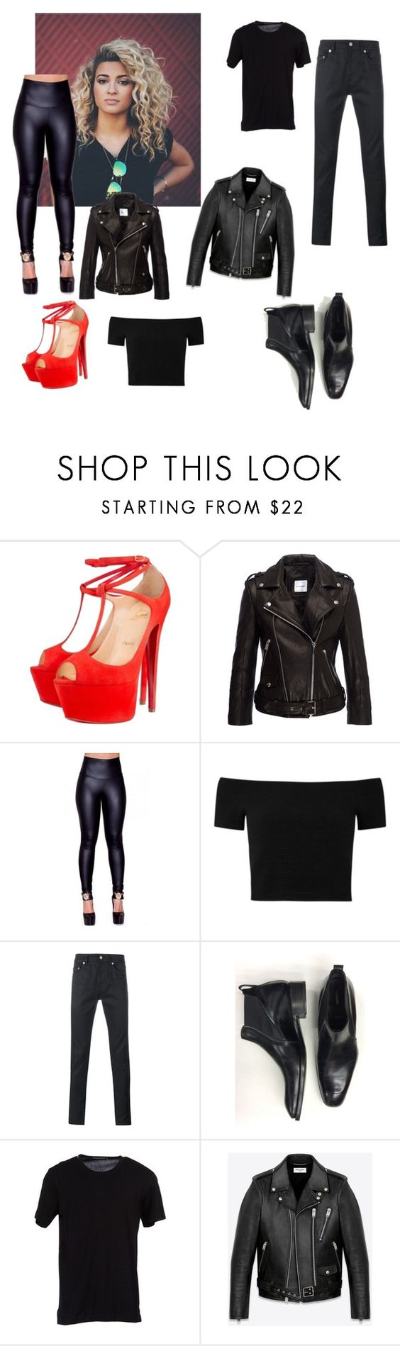 """""""Danny Zuko and Sandy costume"""" by mrs-eazy ❤ liked on Polyvore featuring Christian Louboutin, Alice + Olivia, Yves Saint Laurent, Tom Ford and Dolce&Gabbana"""