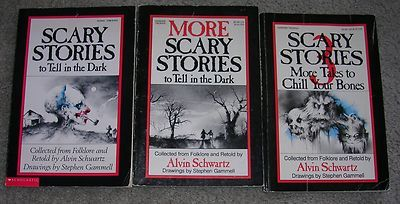 Scary Stories book set - so getting these for my kids! I used to love reading theses