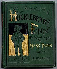 The Adventures of Huckleberry Finn  1st edition book cover...read any of his…