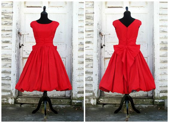 Hollywood Starlet Fire Engine Red Holiday by AutumnandYosVintage, $300.00