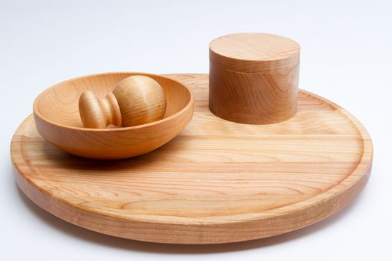 Extra Large Lazy Susan Board Maple