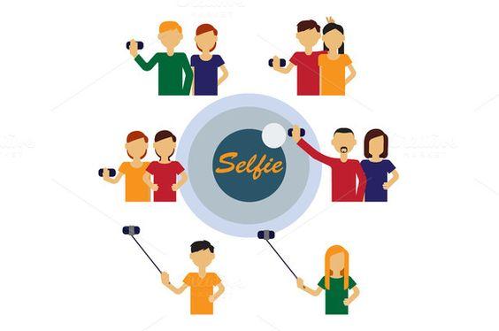 Selfie avatars of people by VectorMarket on Creative Market