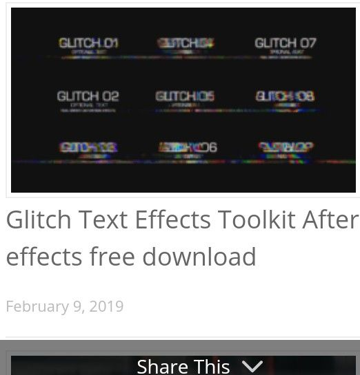 Glitch Text Effects Toolkit After Effects Free Download Glitch