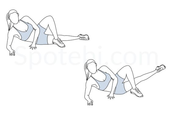 Inner thigh lifts exercise guide with instructions, calories burned and muscles worked. Learn proper form, discover all health benefits and choose a workout. http://www.spotebi.com/exercise-guide/inner-thigh-lifts/