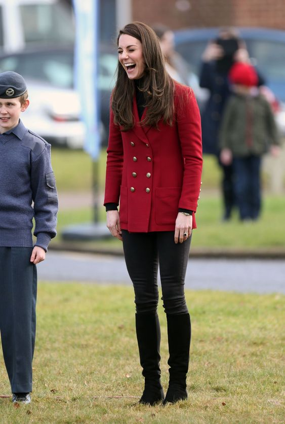 Kate Middleton #KateMiddleton in Tights  Visits RAF Cadets in Stamford 14/02/2017 Celebstills K Kate Middleton