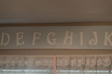 Alphabet Nursery Sign