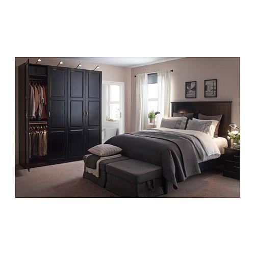 pax armoire penderie brun noir undredal noir ikea taies d 39 oreiller et housses de couette. Black Bedroom Furniture Sets. Home Design Ideas