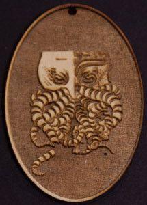 Tiki-thulhu Cameo Logo Pendant - Wood