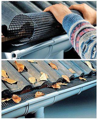 Keep  gutters leaf-free: