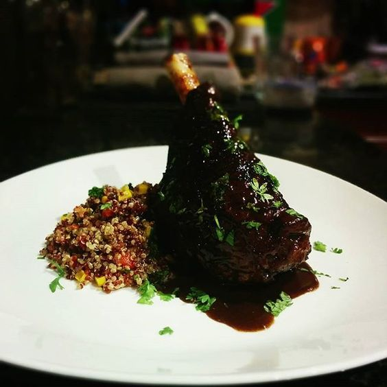 #SousVide #Lamb #Shank - #48hours #Picante #Tender #Paprika #Red #Wine  #AnovaCulinary #Quinoa #Salad - #InstaFood #HomeCooking #MosTavern