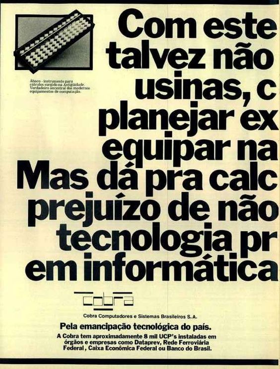 """""""cobra computadores"""" - COBRA - Computadores e Sistemas Brasileiros Ltda"""