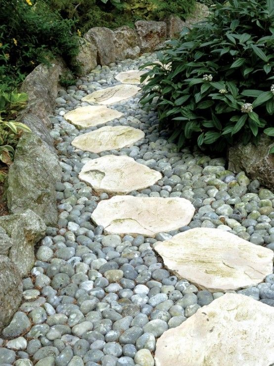 37 MESMERIZING GARDEN STONE PATH IDEAS | Stone Paths, Dry Creek Bed And  Flagstone