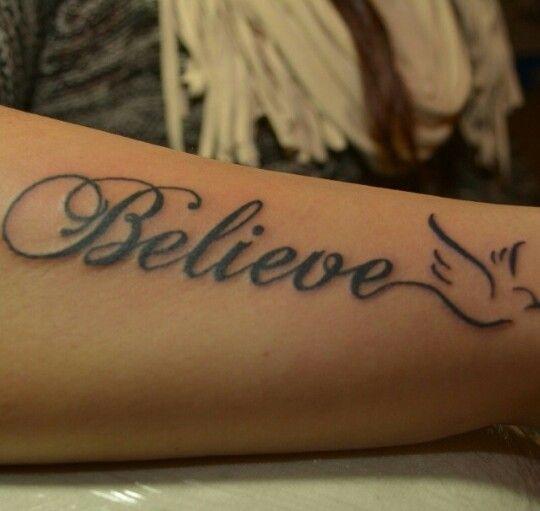 #believe tattoo