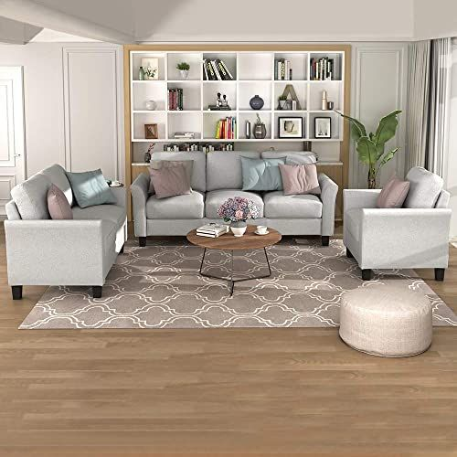 Great For Romatlink 3 Pieces Living Room Furniture Set, Button Tufted Sectional Armchair Sof… | Living Room Sets Furniture, Living Room Sofa Set, Furniture Sofa Set
