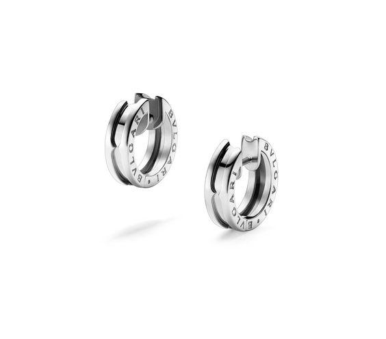 BZero1 White Gold Small Hoop Earrings 345582