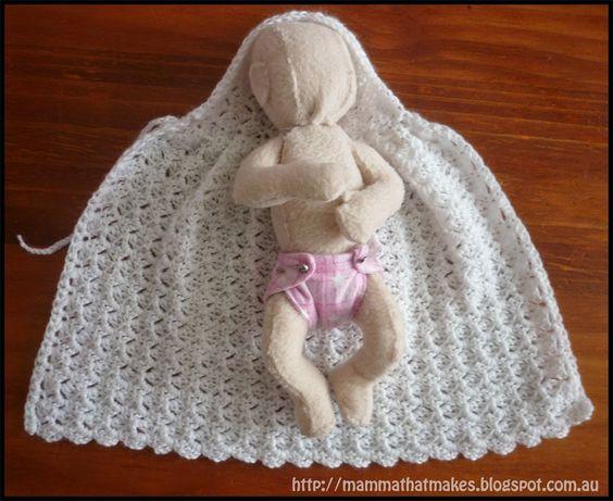 Crochet Doll Cape Pattern : Free pattern, Free crochet and Clothing on Pinterest
