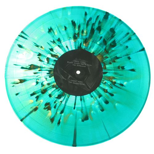 splatter color vinyl record