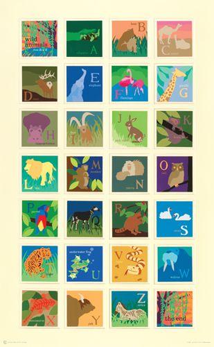 Alphabet Poster by Carolyn Sienicki http://www.risdworks.com/p-304-alphabet-poster.aspx #Alphabet #Illustration #Carolyn_Sienicki