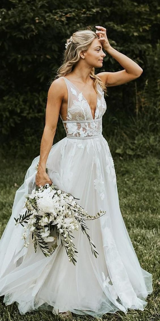 50 Trendy Romantic Unique Wedding Ideas 2019 Wedding Dresses Unique Chic Bridal Dress Wedding Dresses Lace