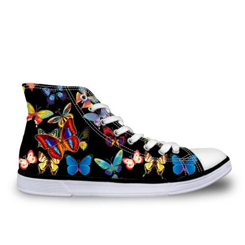Ladies Girls Black Canvas Shoes