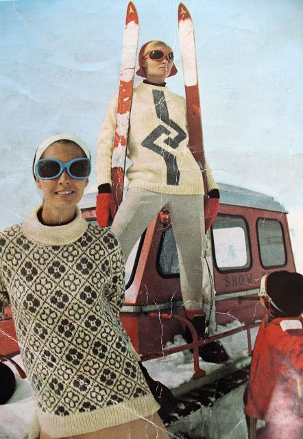 I just love this... We first need Vintage Ski Sweaters but I was thinking Michela could use her snow shoes and Naomi you could bring your Nordic skis ??? @naomilentz @michelahoveling