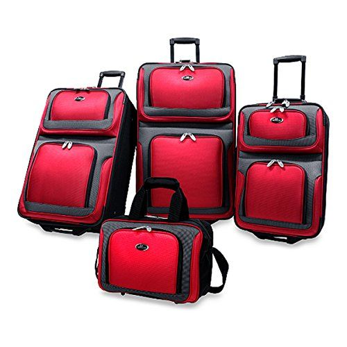 The Classic Red Ny 4-piece Luggage Set  http://www.alltravelbag.com/the-classic-red-ny-4-piece-luggage-set/