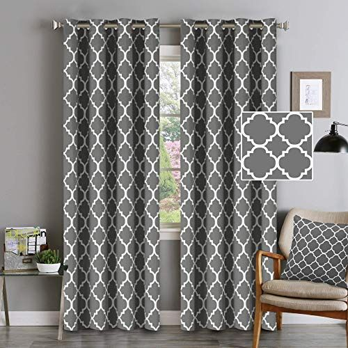New Gray Blackout Curtains Grommet Top Curtains Thermal Insulated Cutrains Natural Effect Highly Durable Panels Bedroom 52 X 84 Set 2 Panels Mild Gray Moro In 2020 Curtains Living Room Modern