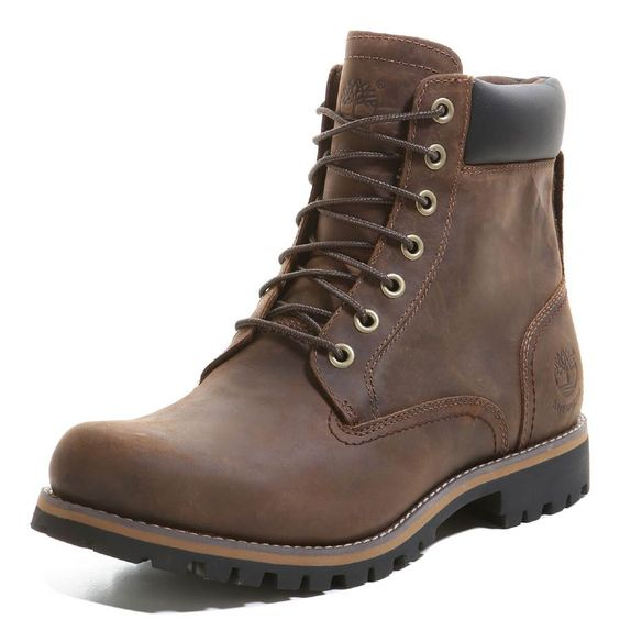 Timberland | Bottes EARTHKEEPERS® RUGGED 6 INCH WP PLAIN TOE Homme | marron foncé | VAOLA