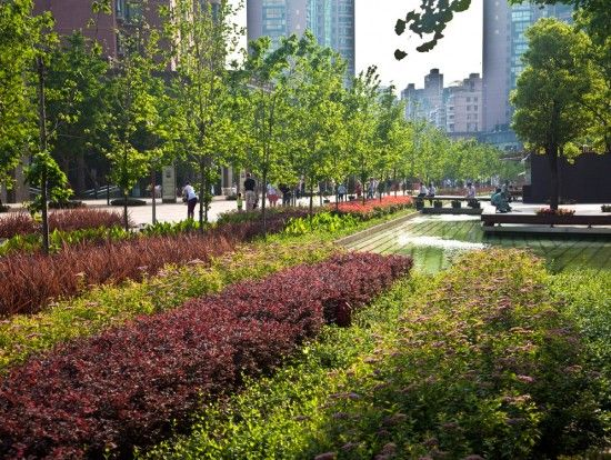 Gubei pedestrian promenade by swa group shanghai china for Swa landscape architecture