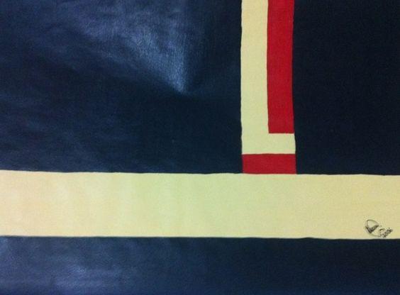 """""""Base"""" acrílica sobre papel 0,32 x 0,24 2006 M. Sigrini Miranda"""