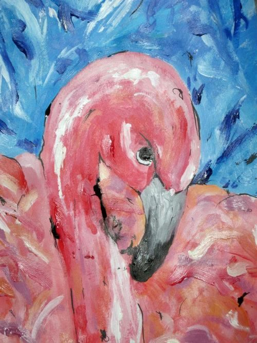 #flamingo #art #painting