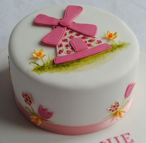 Pretty Windmill Birthday Cake