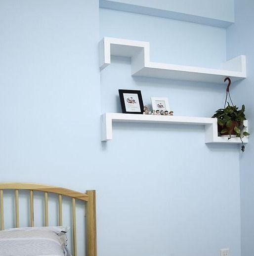 Schappen van de muur planken creatieve s type rooster tv achtergrond decoratieve frame - Decoratie badkamer fotos ...