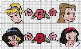 Disney princesses patterns: beading, cross stitch, knitting, etc