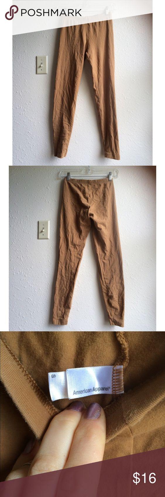 Tan American Apparel Leggings Tan American Apparel leggings in good condition. Size small. American Apparel Pants Leggings
