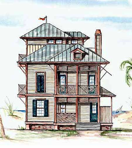 Plan 15721ge sleeping loft a plus house plans beach for Inverted beach house plans