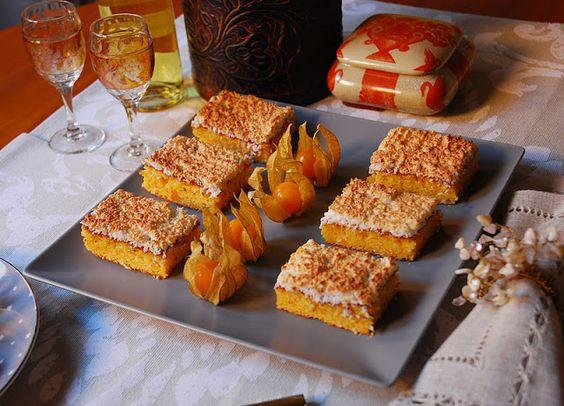 Cortaditos de naranja y merengue de coco. | Cuchillito y Tenedor