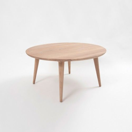 Oskar Round Coffee Table - American Oak