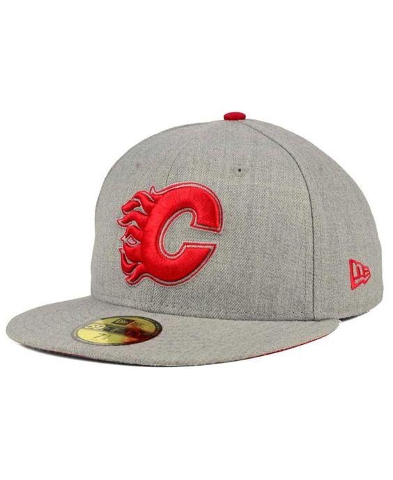 New Era Calgary Flames Heather League Basic 59FIFTY Cap