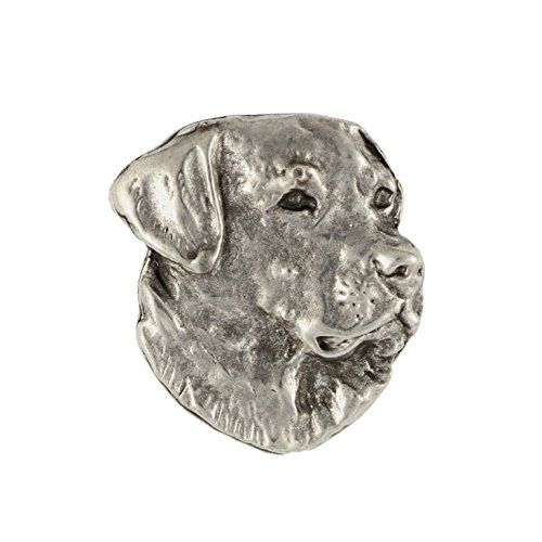 PinMart/'s Silver 3D Labrador Retriever Dog Breed Dog Lover Lapel Pin