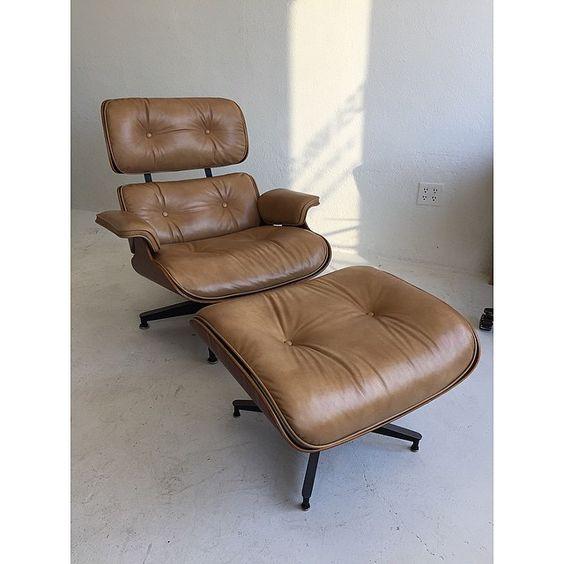 New leather and refinished. #fresh #denmobler #eamesloungechair #hermanmiller #midcenturymodern