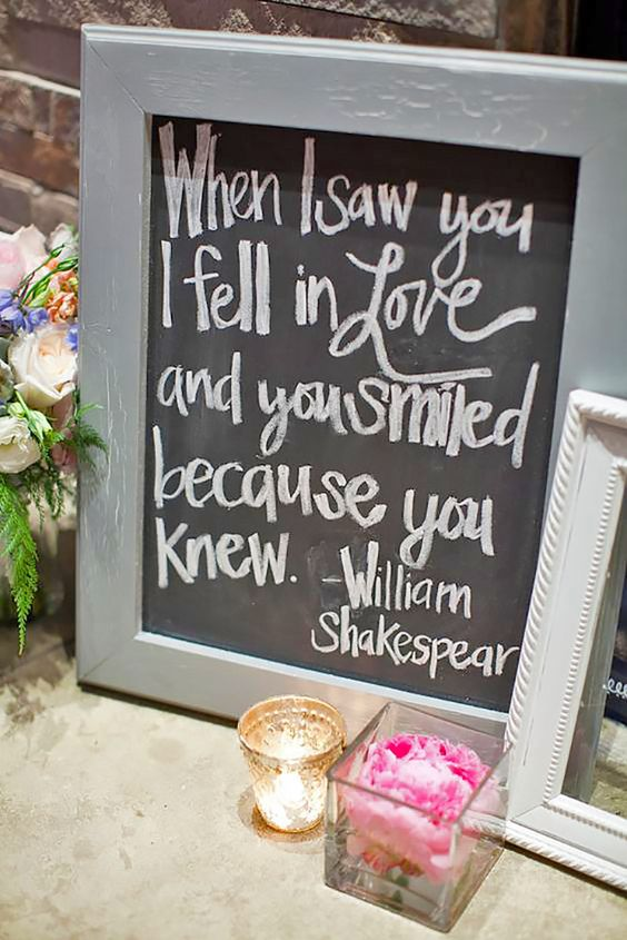 Clever funny wedding signs for your reception