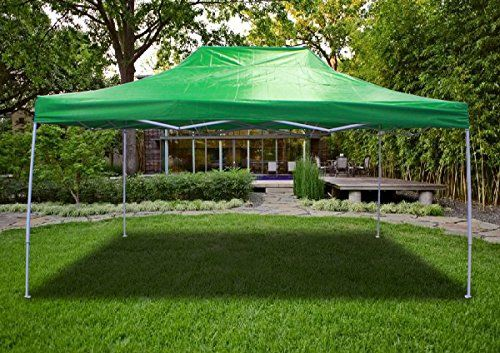 New Light Green Deluxe Ez Up Canopy Pop Up Tent 15 X 10 Gazebo Sun Shade Click Image For More Details This I Pop Up Tent Tent Camping Hiking Tent