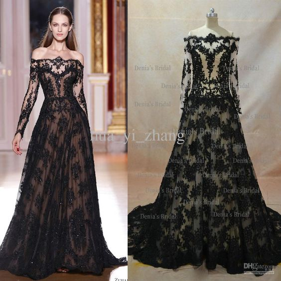 Real Image 2017 Lace Evening Dresses Inspired By Zuhair Murad A ...