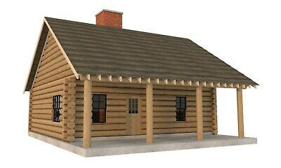Details About Log Cabin House Plans Diy 2 Bedroom Vacation Home 840 Sq Ft Build Your Own In 2020 A Frame Cabin Plans Log Cabin House Plans Cabin House Plans
