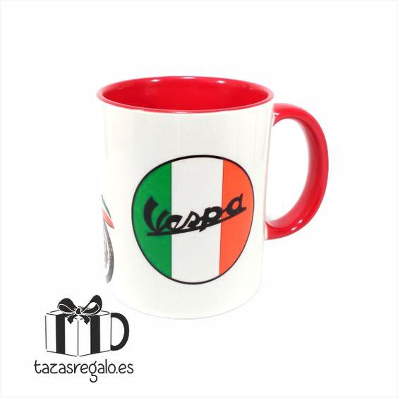 Tazas Originales Personalizadas - Vespa Roja